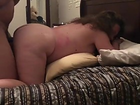 White wife loves his BBC cums on her ass