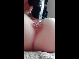 Black Toy for wife's pussy