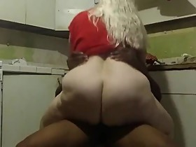 Shameless BBW wife having a real orgasm with BBC