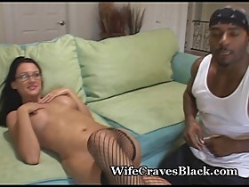 Hot Euro Takes Black Cock