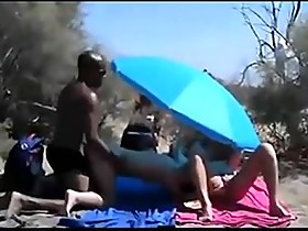 White wife fucked by strangers BBC on beach in front of others